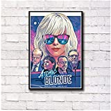 WEUEWQ Poster Atomic Blonde Charlize Theron James McAvoy