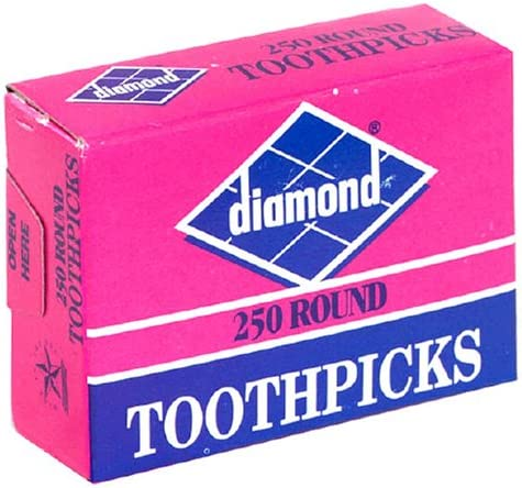 Diamond Round 67% Minneapolis Mall OFF of fixed price Toothpicks 250-Count Pack 24 Boxes