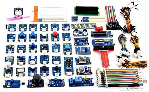 Adeept 46 Module Ultimate Sensor Kit f¨¹r Raspberry Pi 3,2 B / B +, BMP180, DHT11, Raspberry Pi Sensor Starter Kit mit C- und Python-Code, 150 Seiten PDF-Handbuch
