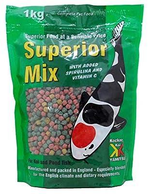 Kockney Koi Superior Mix Pond Fish Food 4mm 1kg Bag