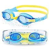 Portzon Kids Swim Goggles Anti Fog Swimming Goggles Clear No Leaking for Child, Blue (192132604789)