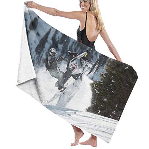 Toalla de baño Moderna para Motos de Nieve, Playa, SPA, Ducha, Envoltura de baño, luz Suave, cómoda, 80x130 cm