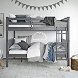 Dorel Living Moon Full Over Full Bunk Bed with USB Port, Gray
