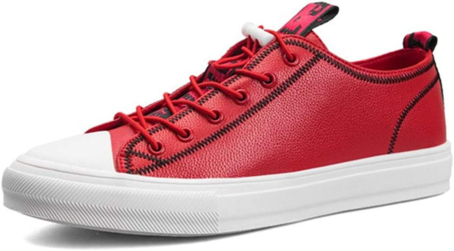 Casual Men's shoes Microfiber Red Four Seasons Can Wear Board shoes Leisure