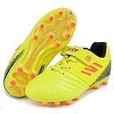 Zapatillas de Fútbol Niño 28 Botas de Fútbol Niña Spike Football Shoes Libre Atletismo Zapatos de Entrenamiento Profesionales Césped Artificial Zapatos de Fútbol Training Unisex Amarillo