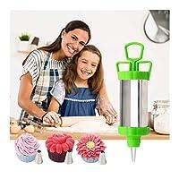 ケーキフロスティングツール/ケーキフィーダー/デザートデコレーター/装飾品モールドキットペン-3つの異なるノズルとスクレーパー付き(ランダムカラー)(Color:ランダムカラー)