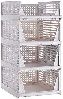 MU Grandes boîtes de rangement avec couvercles, boîtes de rangement empilables, boîte de rangement pour tiroir, ornement,b...
