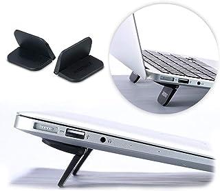 NITIUMI ノートパソコンスタンド PCスタンド 折りたたみ式 冷却スタンド 繰り返し使用 軽量 快適 薄型 傾斜 角度 放熱 冷却 タブレット用スタンド 15インチまで対応 2枚入り (ブラック)