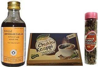 Kottakkal Arya Vaidya Sala Arimedadi Oil Tailam - 200ML, With Free Dilbahars Yummy Digestives Khatta Mitha Chhuhara 90gm &...
