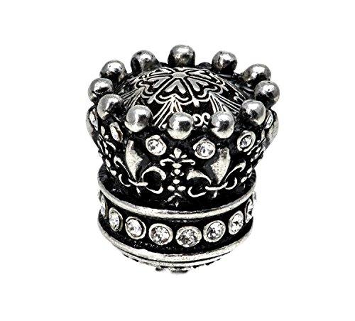 Carpe Diem Hardware 6101-9C  Crowning Glory  Queen Anne Large Knob with Swarovski Crystals, Chalice