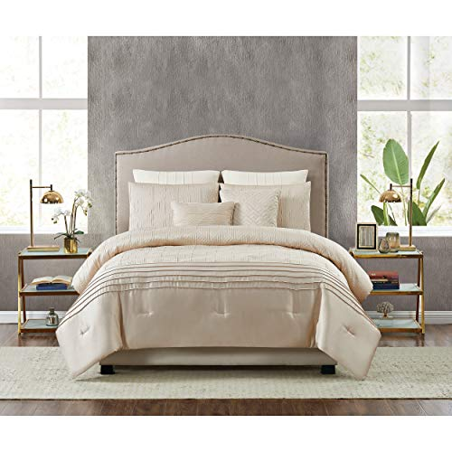 5th Avenue Lux Noelle Luxury 7 Piece Comforter Set, Queen