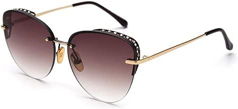 Yeenvan Half Rim Sunglasses Women Gradient Black Brown Rimless Sun Glasses Female Rhinestone Style Items