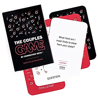 The Couples Game Adult Card Games - Fun, Thought-Provoking, Questions & Challenges Games for Couples New & Old to Ignite Your Relationship - Party Appropriate & Playable w/ Others (100 Cards)