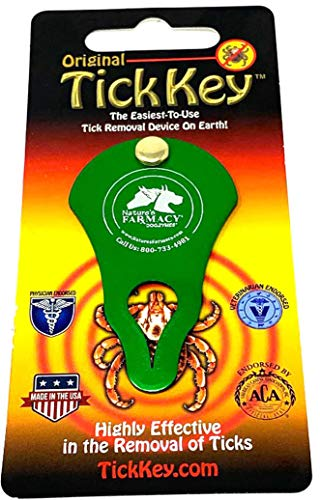 Dogzymes Original Tick Key | Tick Removal Device - Portable, Safe and Highly Effective Tick Removal Tool