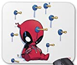 BGLKCS Mini Deadpool Suction Cup Darts Mouse Pad Computer Accessories, Gaming Mouse Mat 11.8 X 9.8 Inch