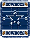 Officially Licensed NFL Dallas Cowboys 'Field' Woven Jacquard Baby Throw Blanket, 36' x 46', Multi Color