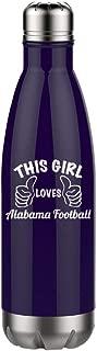 Alabama Football Girl - Engraved Tumbler Wine Mug Cup Unique Funny Birthday Gift Graduation Gifts for Men or Women Football Alabama Crimson Tide Bama (17oz Water, Navy)