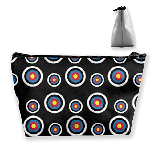 Trousse de toilette en cuir pour femme Trapèze circulaire