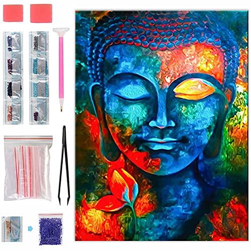 Aapxi Diamond Painting Set Bilder Erwachsene Buddha - DIY 5D Diamant Painting Full Drill - Diamant Malerei Kits - Arts Craft für Home Wall Decoration 30x40 cm