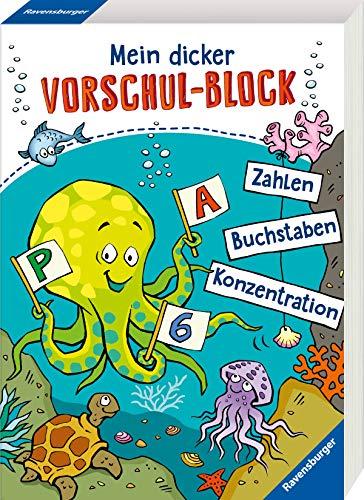 Mein dicker Vorschul-Block: Zahlen, Buchstaben, Konzentration