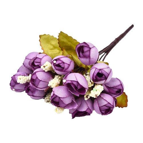 ZTTLOL 15 Kopf Künstliche Blumen Silk Rosen Für Hochzeit Hand Blumenstrauß Home Dekoration Brautstrauß Herbst Dekoration, 03