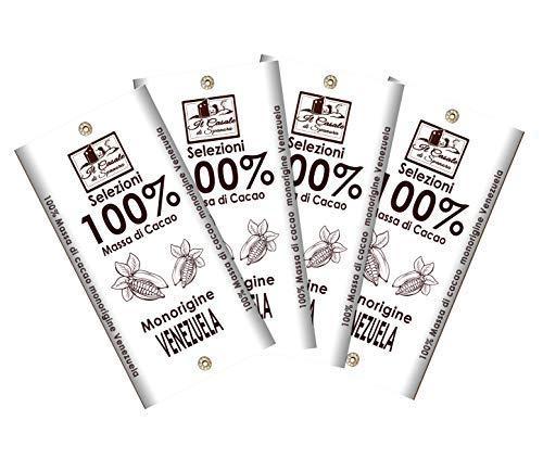 Set Tavolette 100% Massa Di Cacao 560gr. - 4pz - Cioccolato Artigiano Italiano - Il Casale Di Spanora
