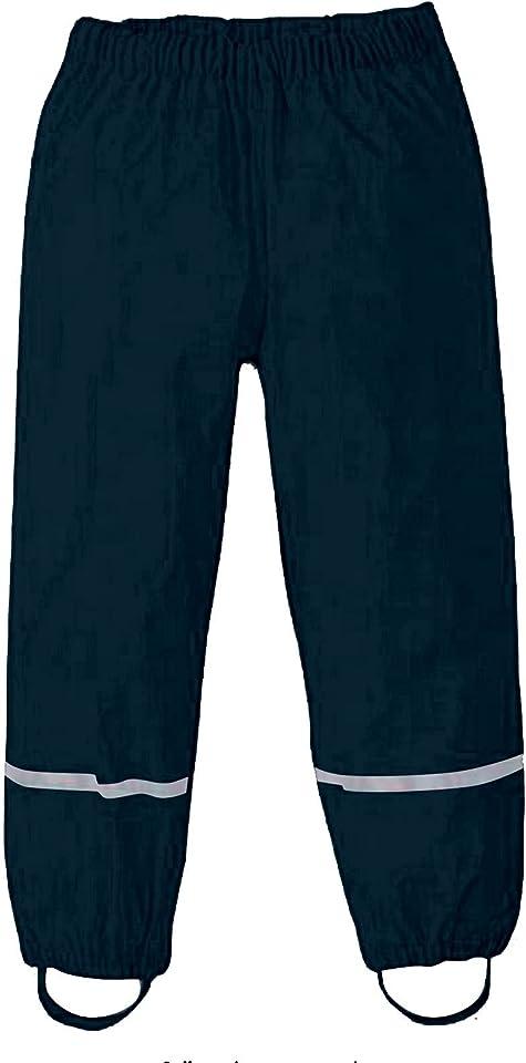 Ewendy Regenhose Kinder, 𝐑𝐄𝐆𝐄𝐍𝐇𝐎𝐒𝐄 Atmungsaktiv & Wind- und wasserdichte Matschhose Kinder für Fahrrad Sport, Rain Pants, Verstellbaren Trägern Regenhose für Fahrrad Sport