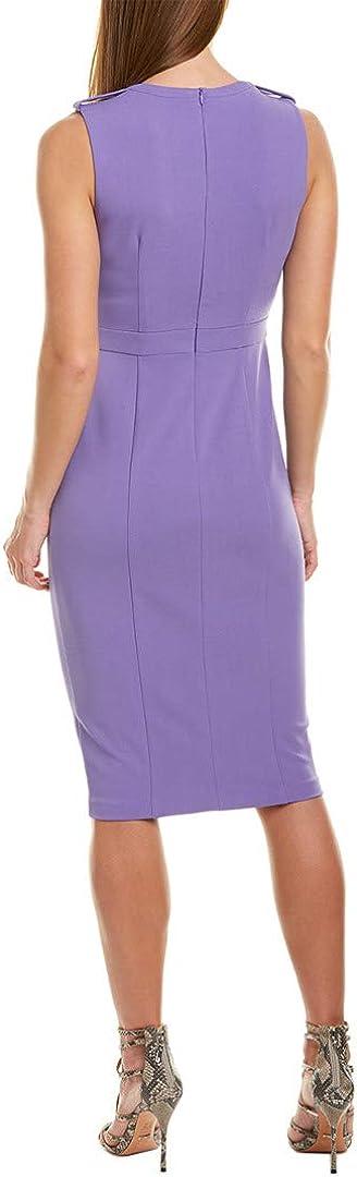 Donna Morgan Women's Sleeveless Stretch Crepe Sheath Midi Dress