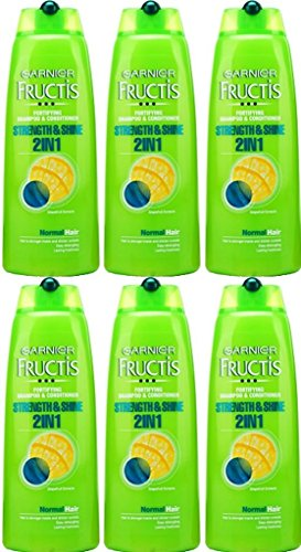 Sei bottiglie di Garnier Fructis 2in1normale shampoo 250ml