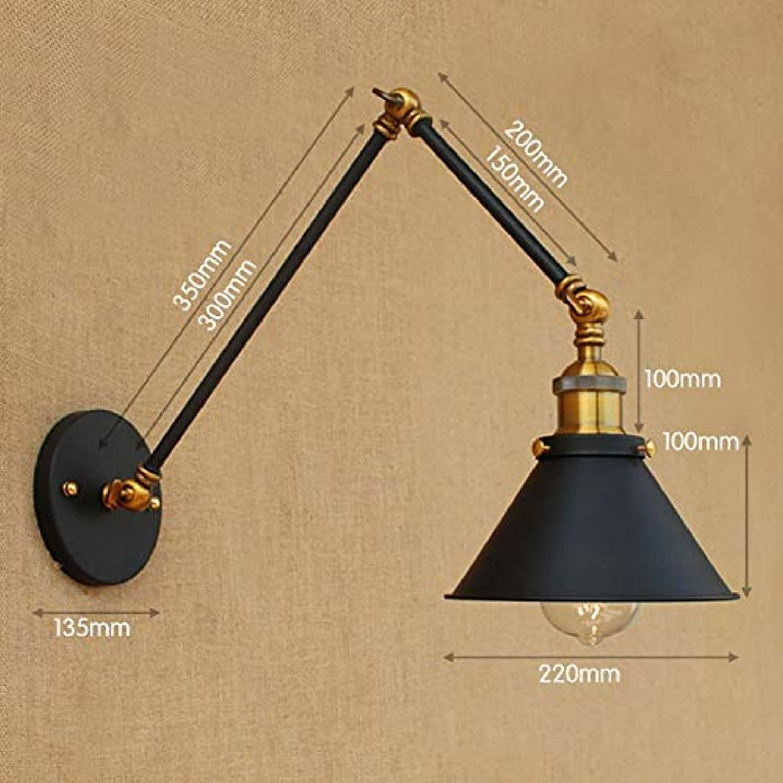 Mao&Long Einfaches LED Weinlese-Schwingen-Arm beleuchtet Metallwand-Licht 85-240V 40W, 30 + 15cm
