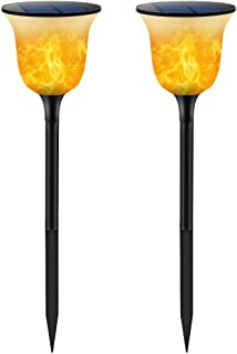 TomCare Solar Lights Solar Torches Lights Waterproof Dancing Flame Outdoor Lighting Landscape Decoration Lighting 96 LED Solar Powered Path Lights Dusk to Dawn Auto On/Off for Garden Patio Yard(2)