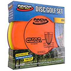 "COMPLETE SET: Includes one driver, one mid-range and one putter CERTIFIED QUALITY: Approved by the Professional Disc Golf Association (PDGA) VARIATIONS: Please note that colors and weights will vary slightly DIMENSIONS: 2"" high; 8. 5"" wide BEST FOR B..."