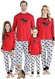 Sleepyheads Red Holiday Family Matching Moose Pajama PJ Sets, Kids (SHM-5066-K-CAN-3T)
