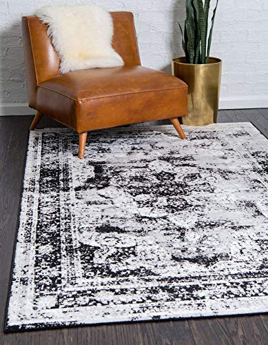 5' x 8' Unique Loom Sofia Collection Area Rug: Black/Gray $38.65, Dark Brown/Light Brown $38.70 + Free Shipping