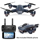 WiFi FPV Drone with Camera,Foldable RC Quadcopter Helicopter FPV Camera 480P /720P HD...