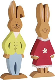Paper Mache Easter Rabbits to Decorate - Boy and Girl   Papier Mache Shapes