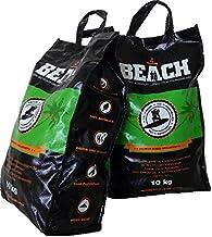 BlackSellig 20 Kg Beach Kokos Grill Briketts Reine Kokosnussschalen Grillkohle –..