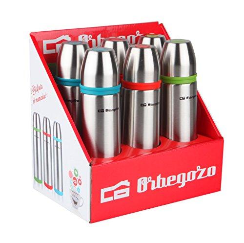 Orbegozo Set de 6 Termo líquido, INOX, 3 Colores, 500 ml, Negro