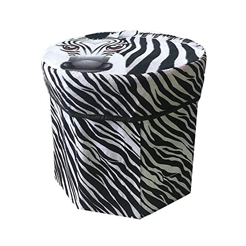 sitzhocker fusshocker gepolstert Hocker und Puffs Hocker Aufbewahrung Fußhocker Puffs Kleiner osmanischer Stauraum graue Ottomane Aufbewahrungshocker Zebra