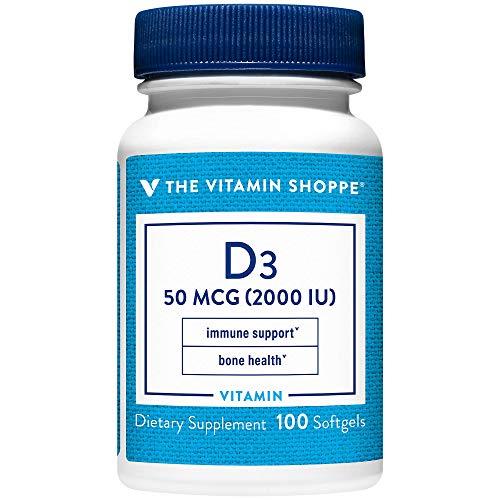 Vitamin D3 2000IU Softgel, Supports Bone Immune Health, Aids in...