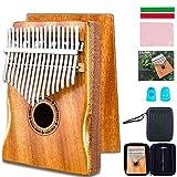 EASTROCK Kalimba 17 Keys Thumb Piano with Mahogany Wood Portable Mbira Finger Piano Gifts ...