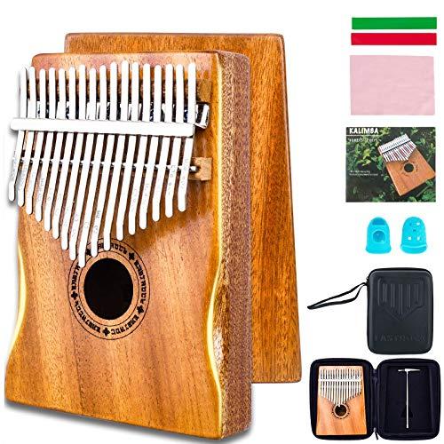EASTROCK Kalimba Piano de pulgar de 17 teclas, portátil Mbira Finger Piano Builts-in Kalimba Case (Kalimba Thumb Piano)