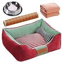 ソフトドッグベッド防水洗える耐摩耗ペットバスケットマットクッション洗えるドッグベッド暖かい高級犬のベッド (Color : LLA1723GC, Size : L(96×75cm))