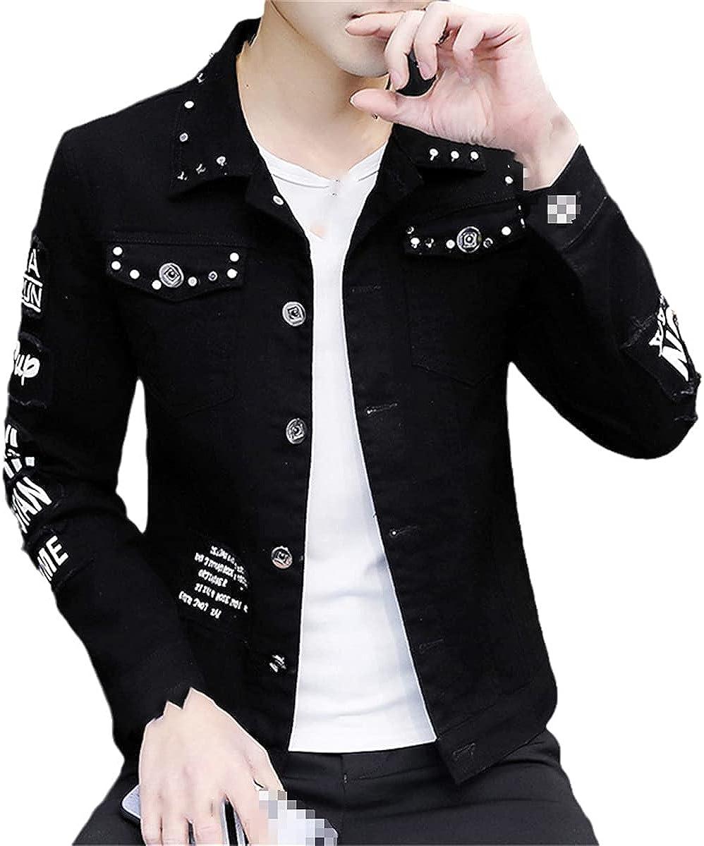 Spring And Autumn Jeans Coat Men's Korean Fashion Students Handsome Coat Men's Clothing