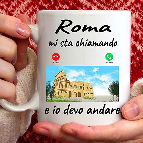 Taza Roma Mi está llamando y yo debo Andare. Gadget regalo Mug para quien ama Roma.