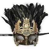 Mens Roman Copper Masquerade Mask...