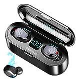 BOBITOS Audífonos Bluetooth Inalámbricos, Control Táctil y LED Pantalla, Bluetooth 5.0 Auriculares Deportivos IPX7 Impermeable para Andirod y iOS