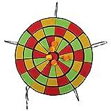 スティッキーターゲット 壁掛け式 取り付け簡単 幼稚園センストレーニングおもちゃダーツ 屋内と屋外 ボール付き(直径65cm)
