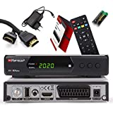 Opticum SBOX Plus HD Sat-Receiver - PVR Aufnahmefunktion Timeshift - Media-Player Full-HD Digitalreceiver DVB-S / S2 - USB, SCART, HDMI, UNICABLE - Astra Hotbird vorinstalliert + Anadol HDMI Kabel