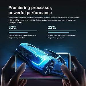 "Xiaomi Redmi Note 9 Smartphone 4GB 128GB 48MP Cámara Cuádruple MTK Helio G85 Octa Core 6.53"" FHD Verde (Forest Green)"